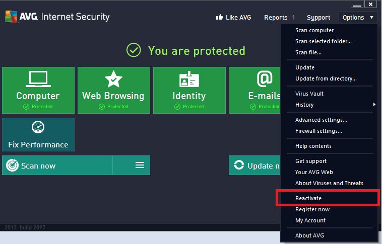 avg internet security 2013 clubic
